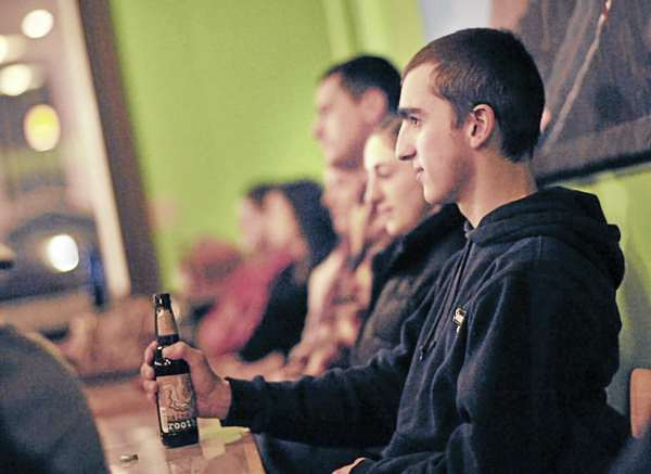 Many people come just to listen and enjoy the time such as at the January program held at Verve in Orono, Jan. 9, 2011.