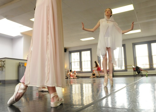Dancers from the Bangor Ballet rehearse at the Thomas School of Dance on Sunday, Sunday 2, 2011. The dancers will be debuting &quotNew York Concerto&quot on Saturday, January 8, at the University of Maine at Machias. (Bangor Daily News/ Kevin Bennett)