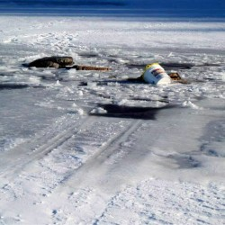 Game warden goes through ice on Sebago