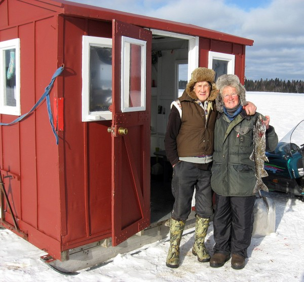 John and Ruth Snell of Carthage have been fishing, hunting and trapping on the Allagash since 1969 (courtesy of the Maine Bureau of Parks and Lands).