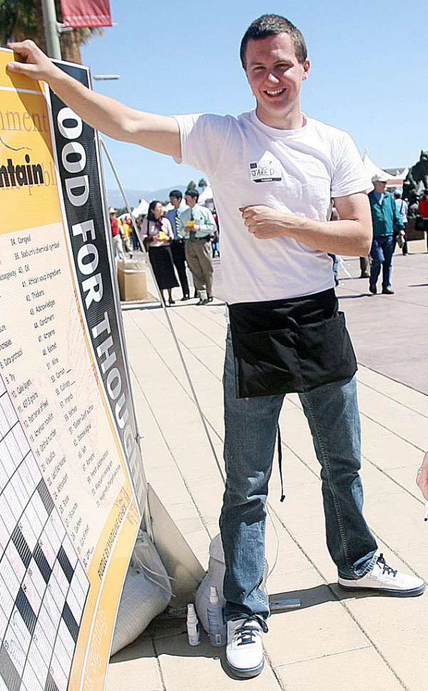 This March 2010 photo shows a man identified as Jared L. Loughner at the 2010 Tucson Festival of Books in Tucson, Ariz. The Arizona Daily Star, a festival sponsor, confirmed from their records that the subject's address matches one under investigation by police after a shooting in Tucson that left U.S. Rep. Gabrielle Giffords wounded and at least five others dead. Police say a suspect is in custody, and he was identified by people familiar with the investigation as Jared Loughner, 22, of Tucson.  (AP Photo/Arizona Daily Star, Mamta Popat) NO MAGS, NO SALES, MANDATORY CREDIT