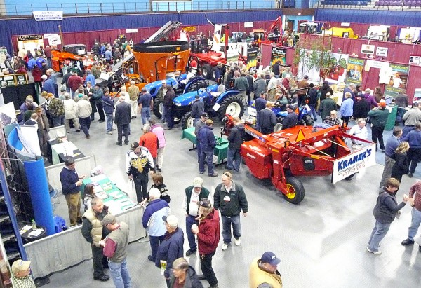 Overview of floor of Augusta Civic Center Tuesday, Jan. 11, 2011, packed with visitors and vendors at the 70th annual Maine Agricultural Trades Show. (BDN Photo by Sharon Mack)