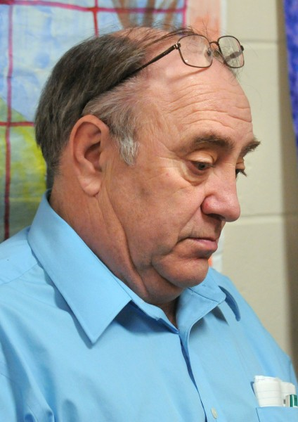 Gary Upham oversees the education programs at the Maine State Prison in Warren. BDN photo by Gabor Degre