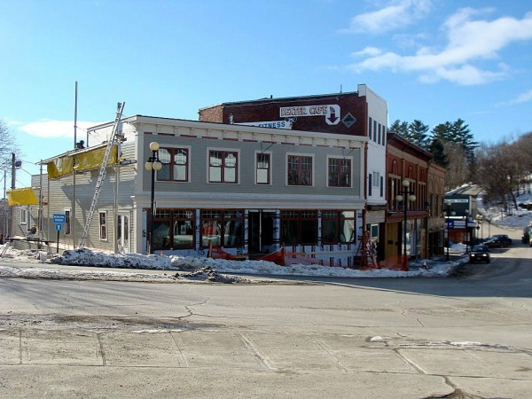 The first phase of the renovation of a building to house the Fossa General Store and Community Farm Project on Main Street in Dexter is nearly completed. The Dexter Regional Development Corp., which received the building from the town, is renovating the building into a farmers market and general store. About $300,000 in grants have been invested into the building to date. (BDN Photo by Diana Bowley)