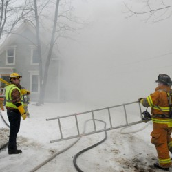 Fire destroys remote Hampden home