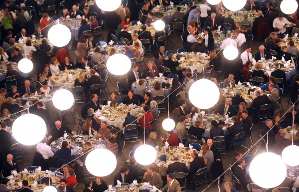 About 1000 people attended the Bangor Area Chamber of Commerce annual dinner at the Bangor Auditorium Wednesday evening. BDN photo by Gabor Degre
