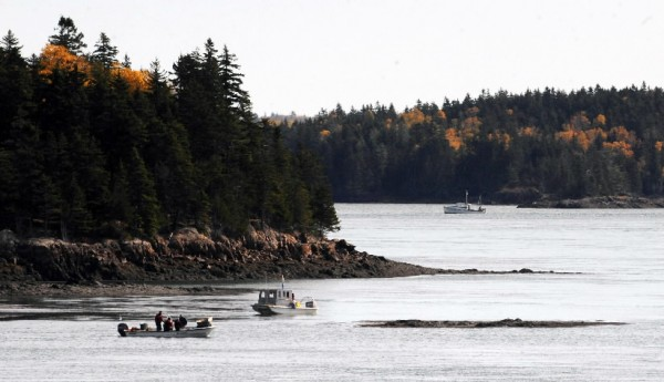 Urchin fishing boats work on Cobscook Bay near the reversing falls in October 2009. Scallop draggers in Cobscook Bay recovered two sets of human remains recently, which have been turned over to the State Medical Examiner's Office for identification.