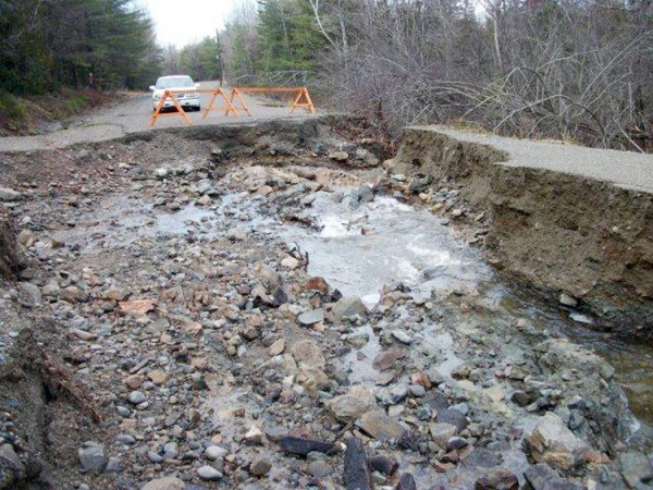The Calais Public Works transfer station road was severely damaged by the December rainstorm.