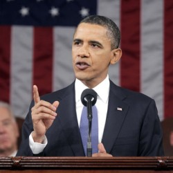 President Barack Obama delivers his State of the Union address on Capitol Hill in Washington on Tuesday.