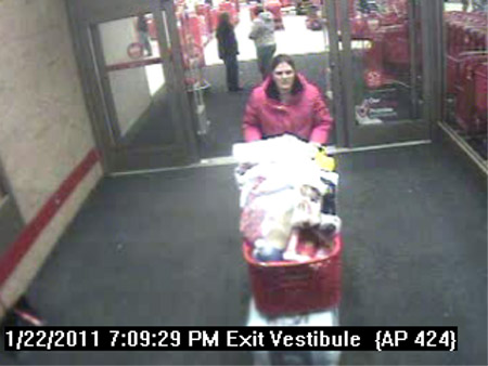 A man and woman are being sought in connection with the theft of more than $1,000 worth of merchandise from the Target store in Bangor about 5:30 p.m. Jan. 22, 2011. Anyone with information as to the identity of the suspects shown in surveillance photos from the store is asked to call Officer Brian Smith at 947-7382, ext. 95775, or press ext. 6 if you prefer to use the anonymous tip line.