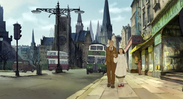 Tatisheff (left) walks with Alice in Sylvain Chomet's &quotThe Illusionist,&quot which was recently nominated for Best Animated Feature by the Academy Awards.