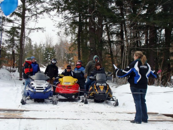 After more than two years of effort, a snowmobile crossing was