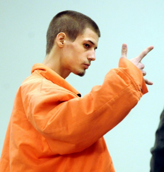 Zachary Carr during his initial court appearance at the Penobscot Judicial Center in Bangor in Feb 2010.