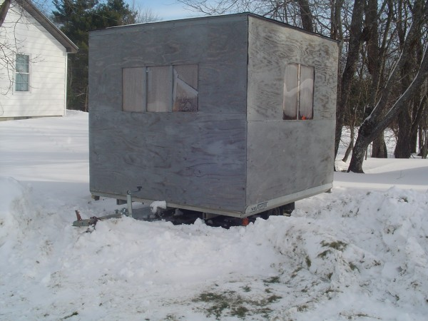 Shack mounted on Trailer