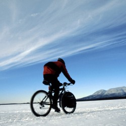 Bicycling through a Maine winter