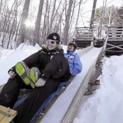 Tobogganing: A cure for the common cabin fever