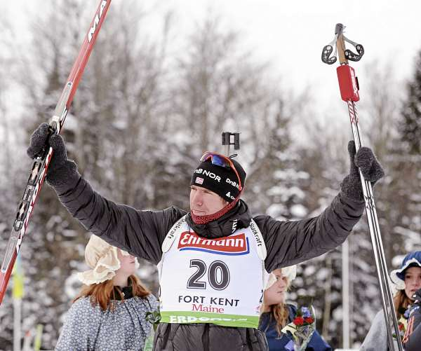 Emil Hegle Svendsen of Norway won the men's 10K sprint race in  24 minutes, 51.4 seconds at the 10th Mountain Lodge in Fort Kent Thursday.