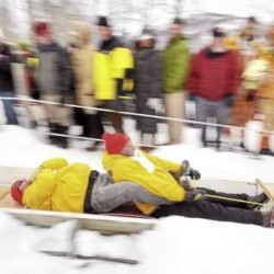 Sled competition provides old-fashioned good time