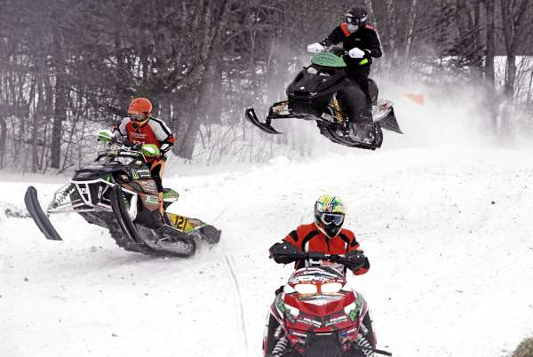 More than 50 spectators rode the state's Interconnected Trail System for snowmobiles Saturday, Feb. 12, 2011, to attend the Lincoln Snowhounds Snowmobile Club?s 11th annual Sno-Cross Races.
