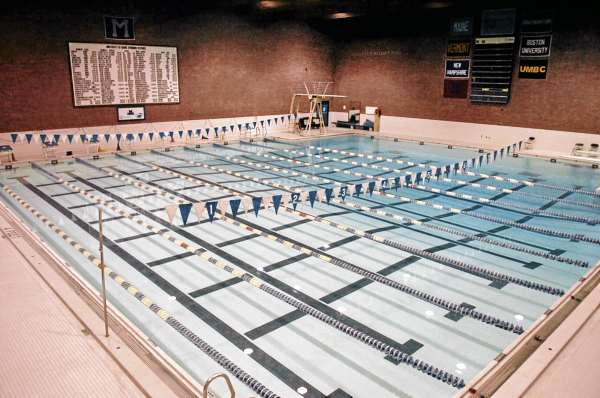 Wallace Pool at the University of Maine is one of two sites where the upcoming high school swim championships will be held. Due to concerns about water and air quality, the Maine Principals Association has issued new attendence guidlines.