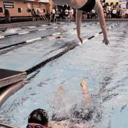 Bangor girls swim team starts fast, finishes strong
