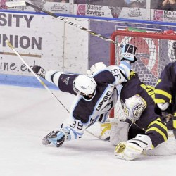 Soft and shorthanded goals costly for Maine in loss