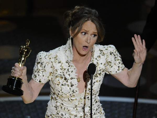 Melissa Leo accepts the Oscar for best actress in a supporting role for &quotThe Fighter&quot at the 83rd Academy Awards on Sunday in the Hollywood section of Los Angeles.