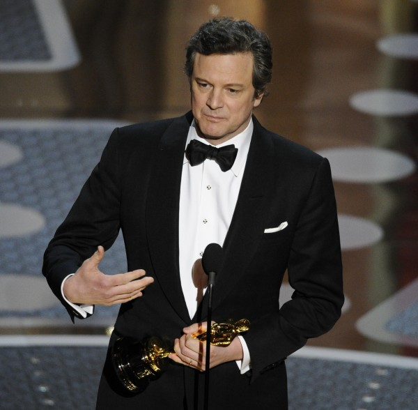 Colin Firth accepts the Oscar for best performance by an actor in a leading role for &quotThe King's Speech&quot at the 83rd Academy Awards on Sunday, Feb. 27, 2011, in Hollywood.