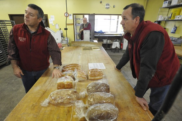 Brothers Paul Huston, left, and Peter Huston, right, have purchased The Brick Oven Bangor Rye Bakery.