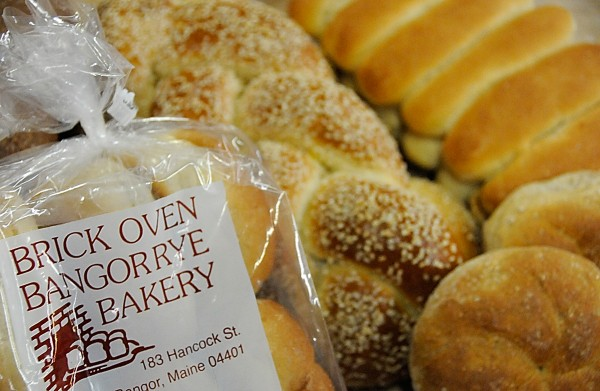 Several freshly baked items at Brick Oven Bangor Rye Bakery include bulkee rolls, Challa bread and finger rolls.