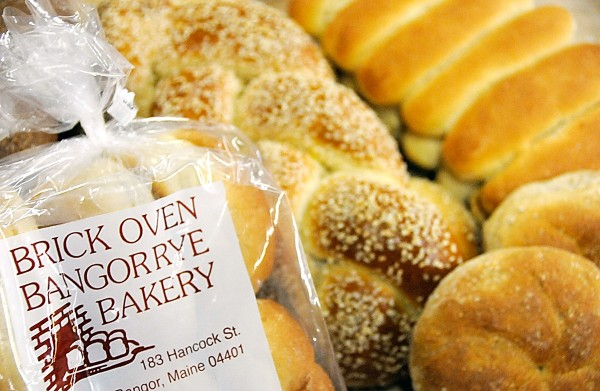 Several freshly baked items at Brick Oven Bangor Rye Bakery include bulkie rolls (left and lower right), challah bread (center) and finger rolls (upper right). Brothers Peter Huston and Paul Huston have purchased The Brick Oven Bangor Rye Bakery from Ralph Beckwith. The bakery has been a long-time Bangor institution.