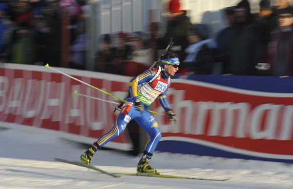 Ted Armgren was the third leg for the Swedish team in I.B.U. World Cup mixed relay biathlon competition at the Nordic Heritage Center in Presque Isle, Maine on Saturday afternoon, Feb. 5, 2011.