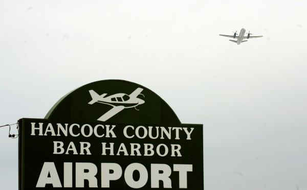 A flight takes off from the Hancock County-Bar Harbor Airport Friday.  The airport is among 110 in the country that could loose a large portion of it's funding if Congress eliminates the Essintial Air Services program.  Maine Congressman Michael Michaud voted against the bill that would eliminate the funding.
