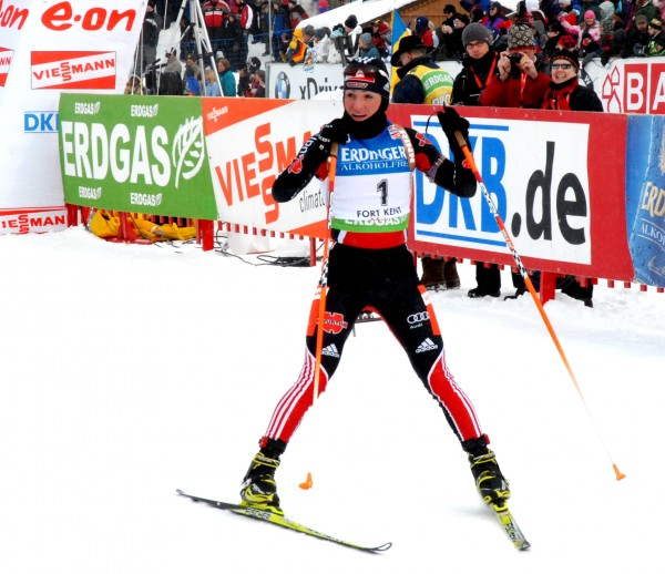 Germany's Andre Henkel won the women's 10K pursuit in the World Cup biathlon Saturday in Fort Kent.