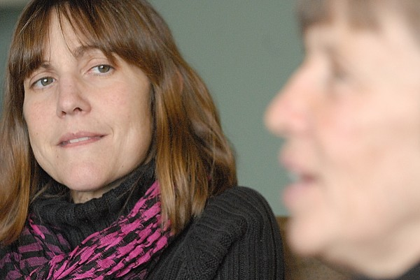 Jan Watson, R.N., (left) of Surry listens to co-worker Deb Hubbard as Hubbard describes the mental aspect of becoming an organ donor for Jan during a BDN interview Monday, Feb. 22, 2010, at Maine Coast Memorial Hospital in Ellsworth.