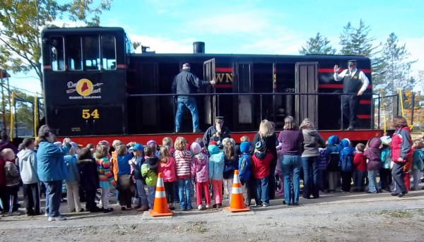 The Down east Rail Heritage Preservation Trust displayed its equipment this fall including its latest addition of a new passenger car. The trust is planning to begin a full season of weekend train rides on Memorial Day weekend.