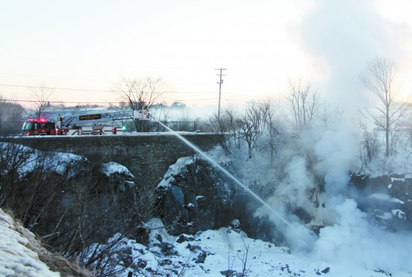 The Rockland Fire Department responded to a fire at the Rockland Transfer Station at 6:30 AM today.