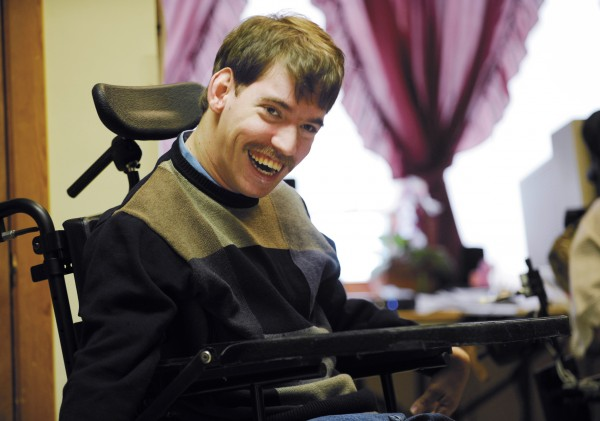 Jake Van Meter smiles during an interview at Penobscot Nursing Home in Jan. 2009.