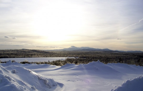 This view of Mt. Katahdin along Route 11 following an icestorm in 2007, is one of the reasons Patten is a favorite destination for visitors and residents alike.