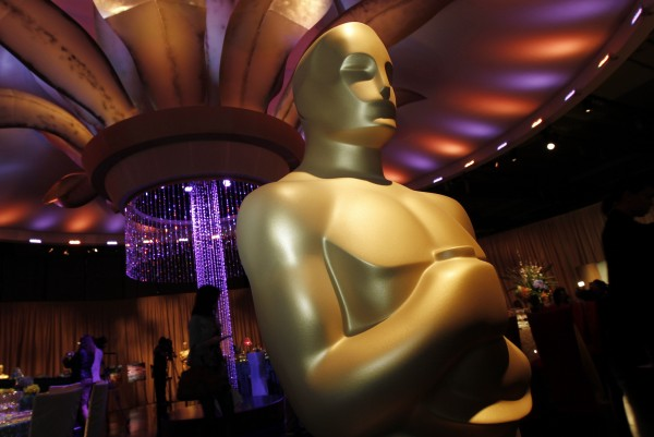 An Oscar statue is seen during a preview of the Governors Ball for the upcoming 83rd annual Academy Awards in Los Angeles on Wednesday, Feb. 9, 2011. The Academy Awards will be held on Feb. 27, and the Bangor Daily News hopes to hear from you about any parties you have planned for the big night.