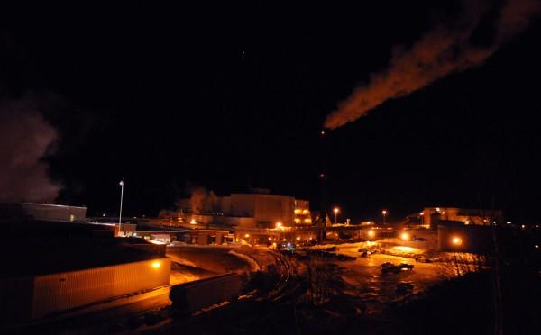The East Millinocket paper mill is seen on Feb. 9, 2011.