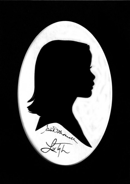 A silhouette of Liv Tyler in 2008 by Ruth Monsell of Damariscotta.