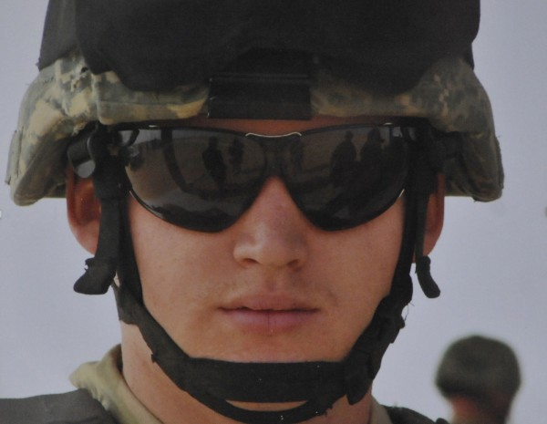 Staff Sgt. R. Clifford took this photo of a fellow soldier in Iraq during the 2006-2007 deployment with Bravo Company, 3rd/ 172nd Infantry. It is part of a soldier exhibit at the Jean B. Chalmers Gallery at the Lincoln Street Center for Arts & Education in Rockland.