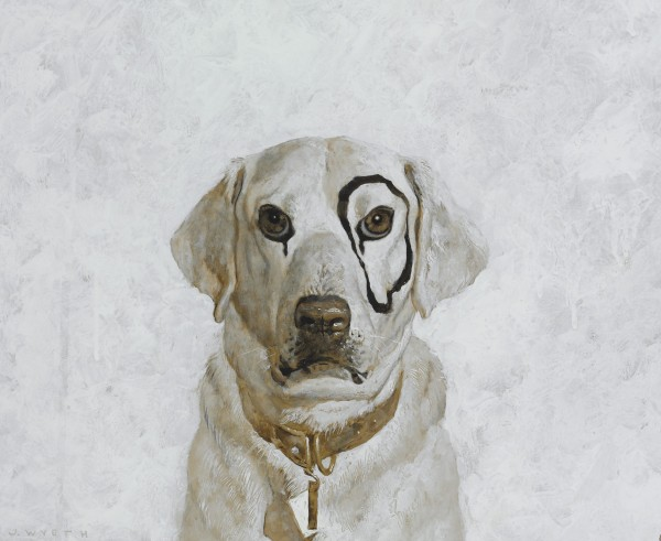 This undated photo provided by Christie's in New York shows one of 12 studies for &quotKleberg&quot by Jamie Wyeth, scheduled to be offered at auction by Christie's on March 3, 2011. This study is a mix of gouache, watercolor and india ink for the oil on canvas that is in the collection of the Terra Foundation for American Art in Chicago.