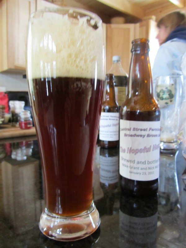 Nick McCrea's Broadway Brown Ale has more flavor than a light beer but less overpowering than a porter.