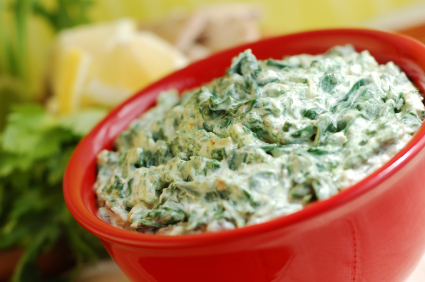 Portion control can keep artichoke dip from expanding your waistline.