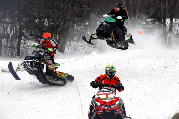 More than 50 spectators rode the state's Interconnected Trail System for snowmobiles Saturday to attend the Lincoln Snowhounds Snowmobile Club's 11th annual Sno-Cross Races.