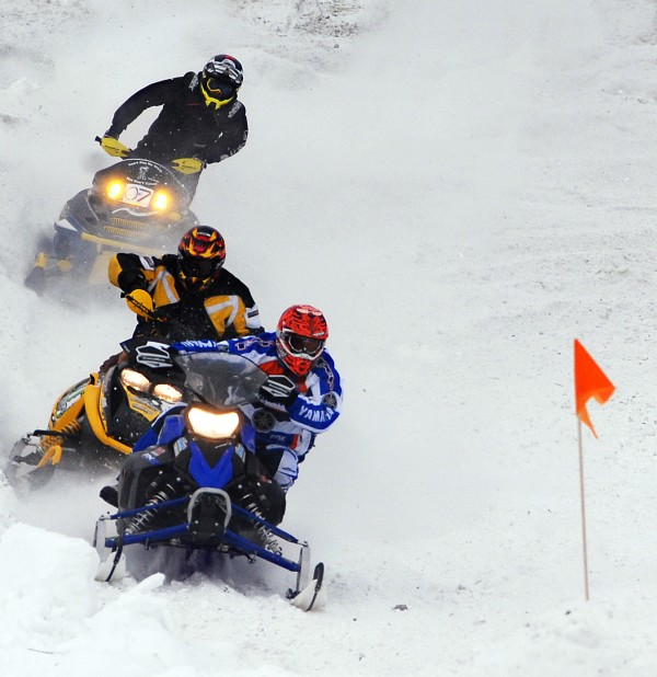 No injuries were reported during the Lincoln Snowhounds Snowmobile Club's 11th annual Sno-Cross Races on Saturday.