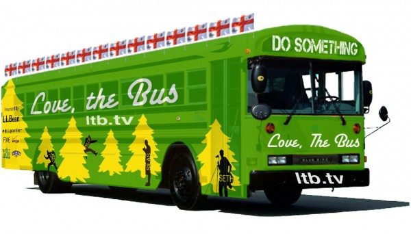 The 'Love, The Bus' tour vehicle eventually could look something like this mock-up.