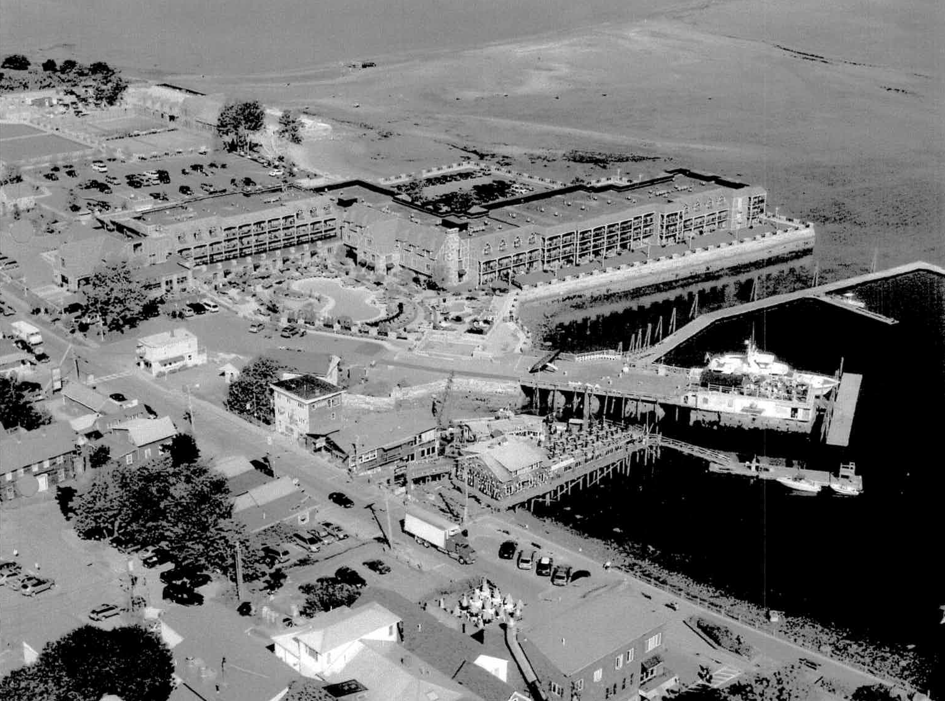 An image from a planning document shows different elements of the pier project.